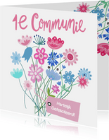 Felicitatie communie label
