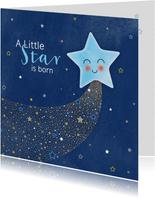 Felicitatie geboorte A star is born voor een zoon