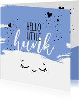 Felicitatie geboorte Hello little hunk