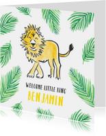 Felicitatie geboorte kleine leeuw