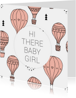 Felicitatie geboorte luchtballon girl