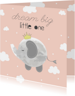 Felicitatie geboorte Meisje - Dream Big Little One