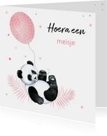 Felicitatie geboorte meisje pandabeertje