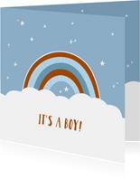 Felicitatie geboorte regenboog jongen