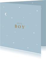 Felicitatie geboorte sterren maan jongen