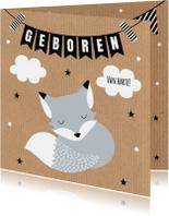 Felicitatie geboorte vosje kraft