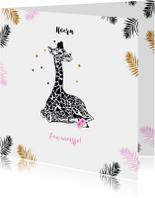 Felicitatie giraffe meisje
