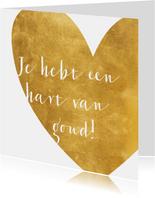 Felicitatie hart van goud
