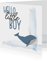 Felicitatie - hello little boy walvis geboorte