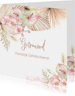 Felicitatie huwelijk droogbloemen orchidee