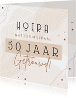Felicitatie huwelijksjubileum 50 jaar aanpasbaar abstract