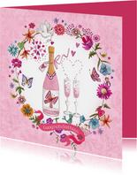 Felicitatie Huwelijksjubileum Champagne