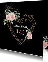 Felicitatie huwelijksjubileum rozen hart