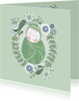 Felicitatie jongen baby groen