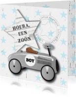 Felicitatie jongen loopauto