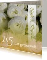 Felicitatie Jubileum ranonkel wit groen
