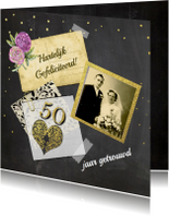 Felicitatie jubileum vijftig