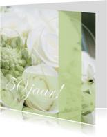 Felicitatiekaarten - Felicitatie Jubileumkaart met rozen vijftig jaar
