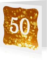 Felicitatie kaart jubileum gouden 50