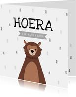 Felicitatie kaart kleinzoon hip beer stoer