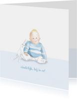 Felicitatie - Kleine jongen met konijntje
