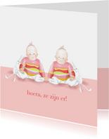 Felicitatie - kleine meisjes met konijntje