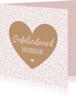 Felicitatie - Luipaardprint met groot hart
