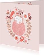 Felicitatie meisje baby roze - MW