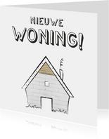 Felicitatie met illustratie van een klein schattig huisje
