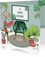 Felicitatie new home hippe inrichting