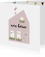 Felicitatie Nieuw huis Illustratie