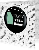 Felicitatie Nieuwe woning ballon