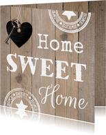Felicitatie nieuwe woning hout
