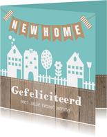 Felicitatie nieuwe woning huisjes slinger