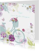 felicitatie pensioen met fiets