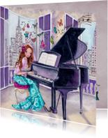 Felicitatie Piano Muziek Meisje