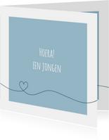 Felicitatie - Simpe hart blauw