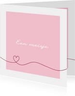 Felicitatie - Simpel hart roze
