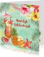 Felicitatie tropische cocktail