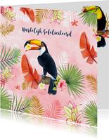 Verjaardagskaarten - Felicitatie tropische toekanvogel
