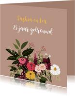 Felicitatie trouwjubileum Fleurig Boeket
