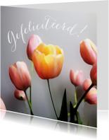 Felicitatie tulpen schilderstijl