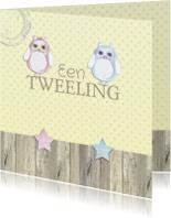 Felicitatie tweeling uil