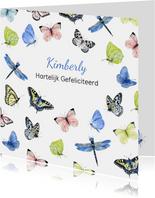 Felicitatie vlinders