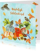 Felicitatie vogeltjes herfst