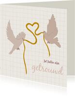 Felicitatie voor huwelijk - lovebirds