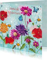 Felicitatie Vrolijke Bloemen
