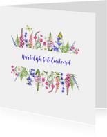 Felicitatie wilde bloemen