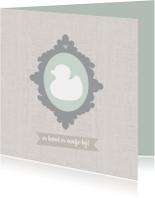 Felicitatie zwanger linnen