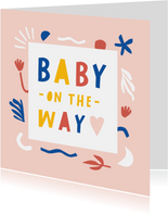 Felicitatie zwanger vrolijk en abstract